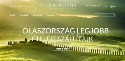 dolcevita olasz élelmiszerek weboldal készítés, google adwords, seo