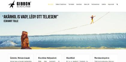 gibbon slacklines weboldal készítés, google adwords, seo, facebook