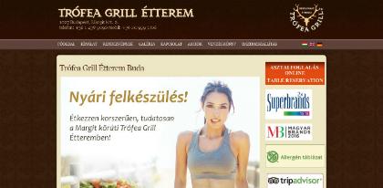 trofea grill étterem margit weboldal készítés, google adwords, seo, facebook